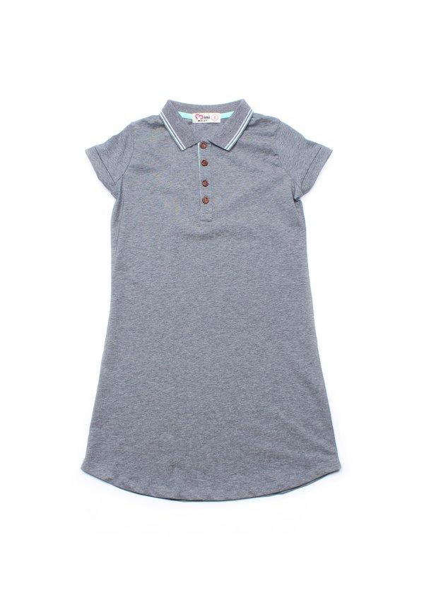 Twin Tipped Polo Shift Dress GREY (Girl's Dress)