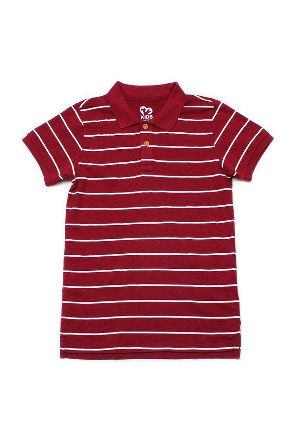 Striped Polo T-Shirt MAROON (Boy's T-Shirt)