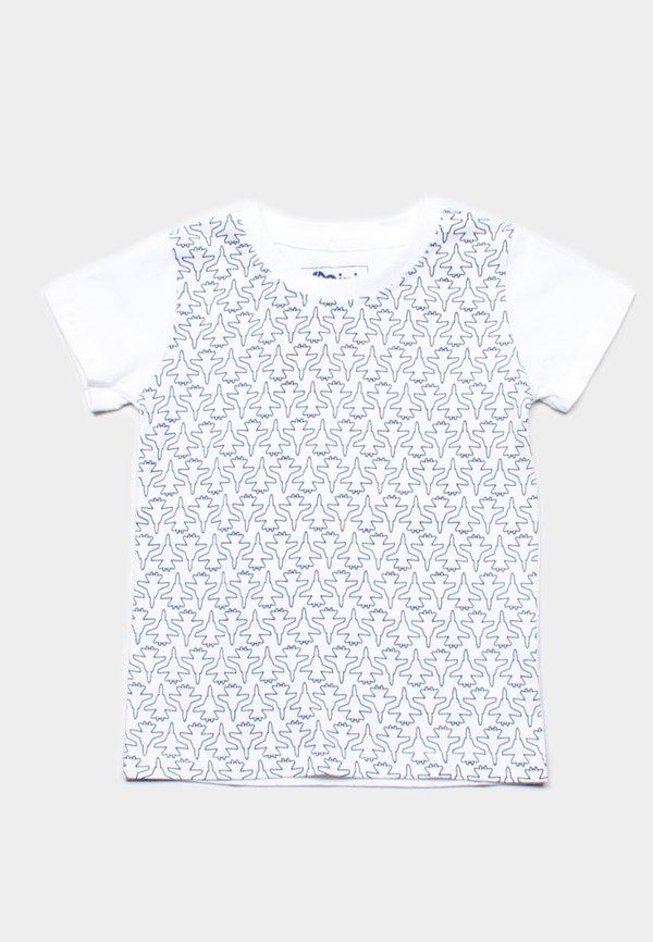 Fighter Plane Print T-Shirt WHITE (Boy's T-Shirt)