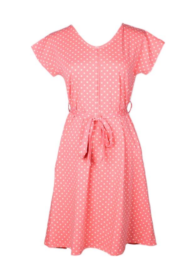 Polka Dot Print Flare Dress PINK (Ladies' Dress)