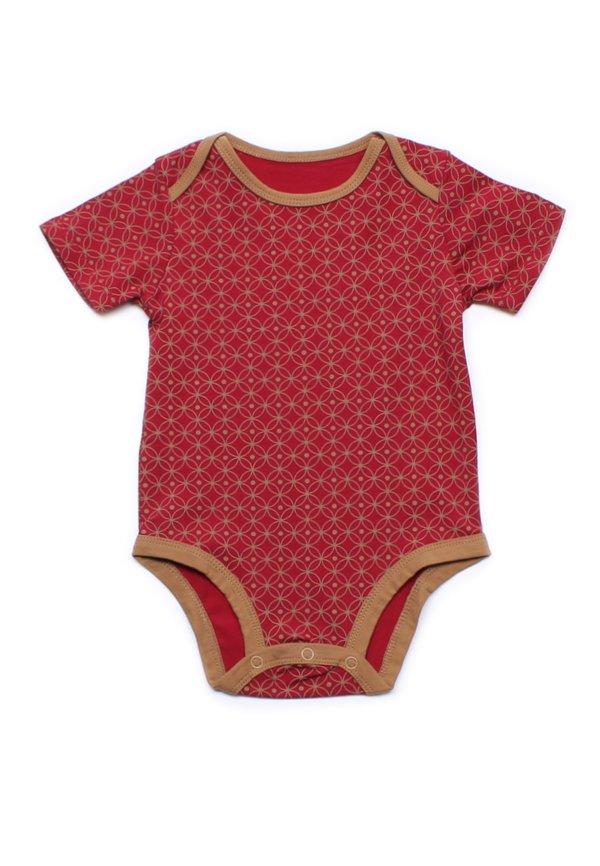 Oriental Rings Print Romper RED (Baby Romper)