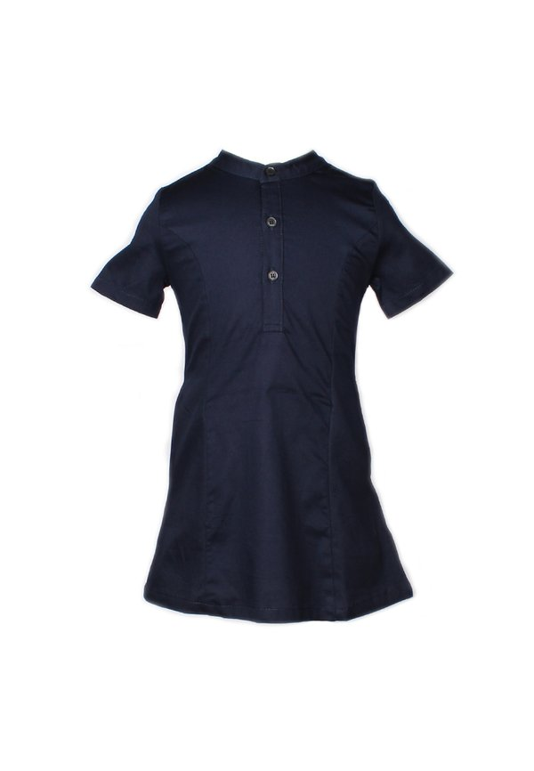Brushed Cotton Half-Button Down Dress NAVY (Girl's Dress)