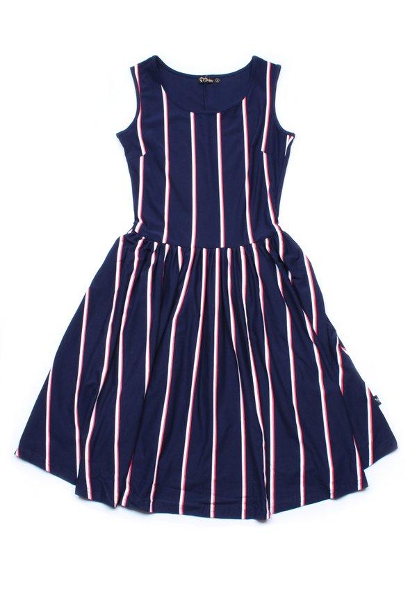 Shadow Stripes Skater Dress NAVY (Ladies' Dress)