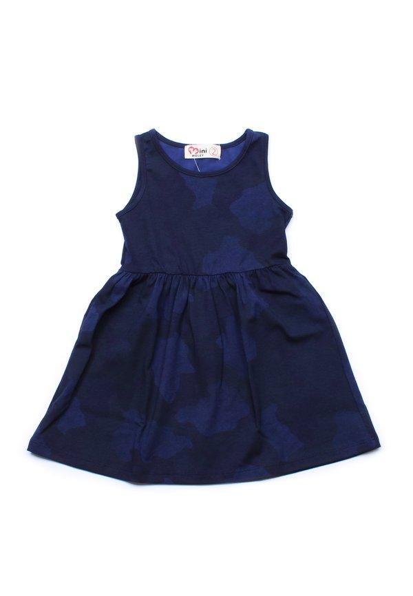 Camo Print Dress NAVY (Girl's Dress)
