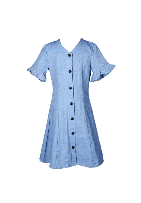 Brushed Cotton Button Down Dress DARKBLUE (Girl's Dress)