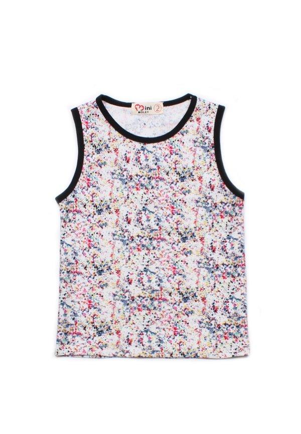 Design Print Singlet WHITE (Boy's T-Shirt)