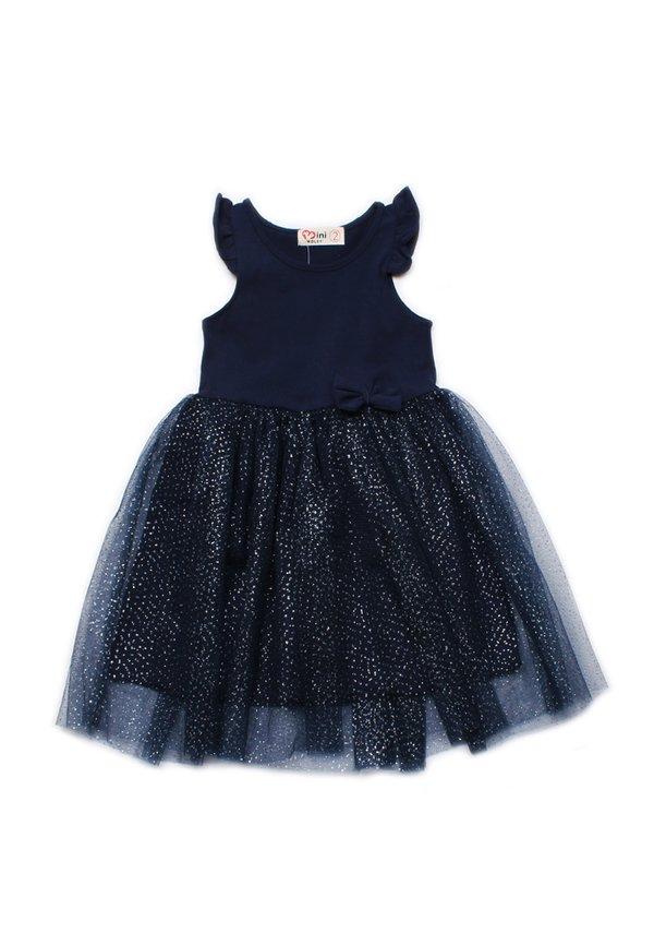 Glitter Bubble Dress NAVY (Girl's Dress)