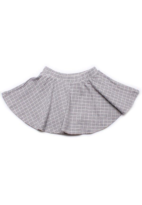 Checkered Skirt GREY (Girl's Bottom)