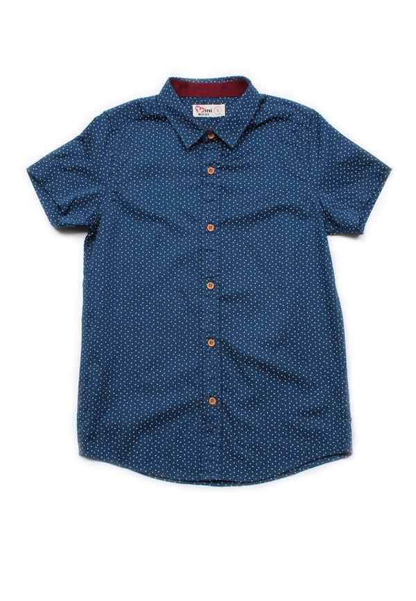 Sprinkle Print Short Sleeve Shirt NAVY (Boy's Shirt)