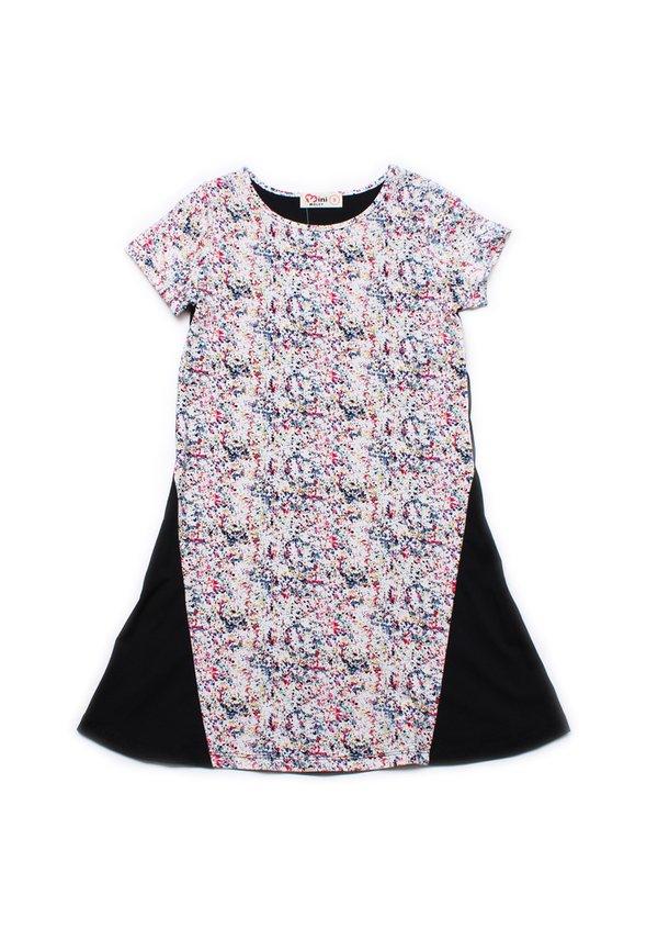 Design Print Shift Dress BLACK (Girl's Dress)