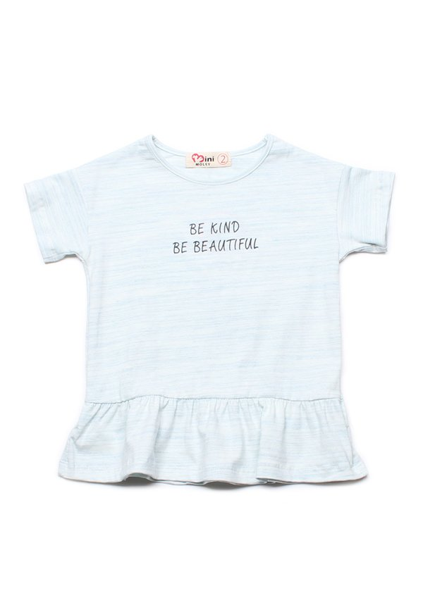 BE KIND BE BEAUTIFUL Frill T-Shirt WHITE (Girl's Top)