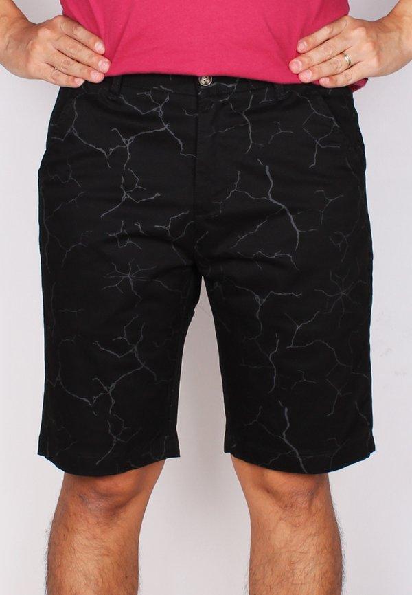 Wall Crack Print Bermudas BLACK (Men's Bottom)