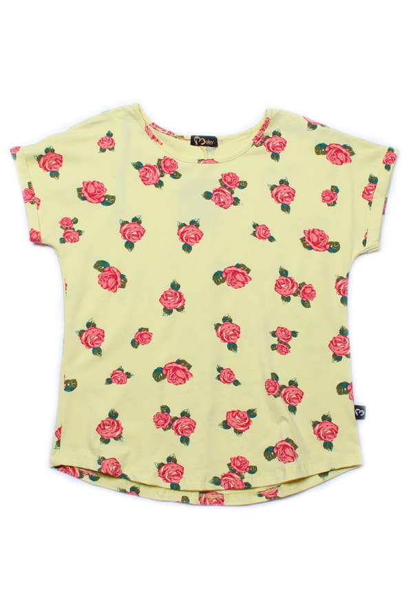 Rose Print Blouse YELLOW (Ladies' Top)