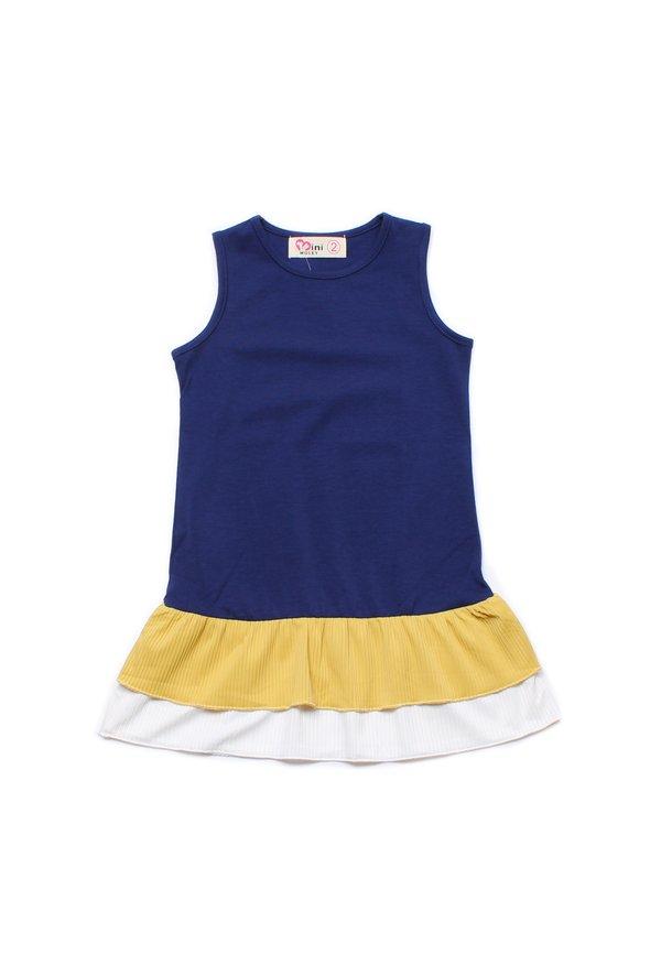 Tiered Ruffle Sleeveless Shift Dress NAVY (Girl's Dress)