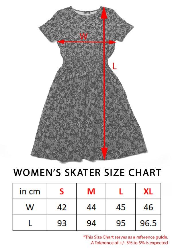 Floral Print Skater Dress WHITE (Ladies' Dress)