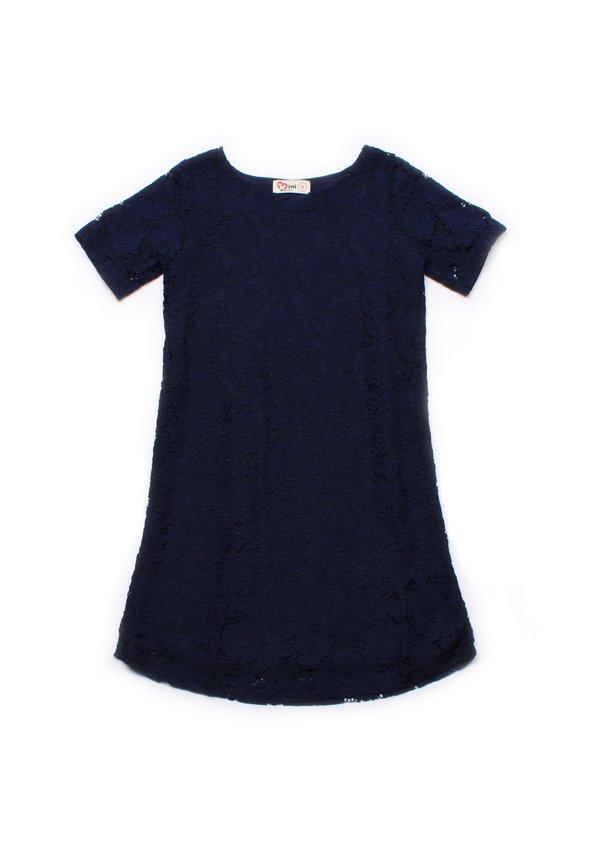 Floral Lace Shift Dress NAVY (Girl's Dress)