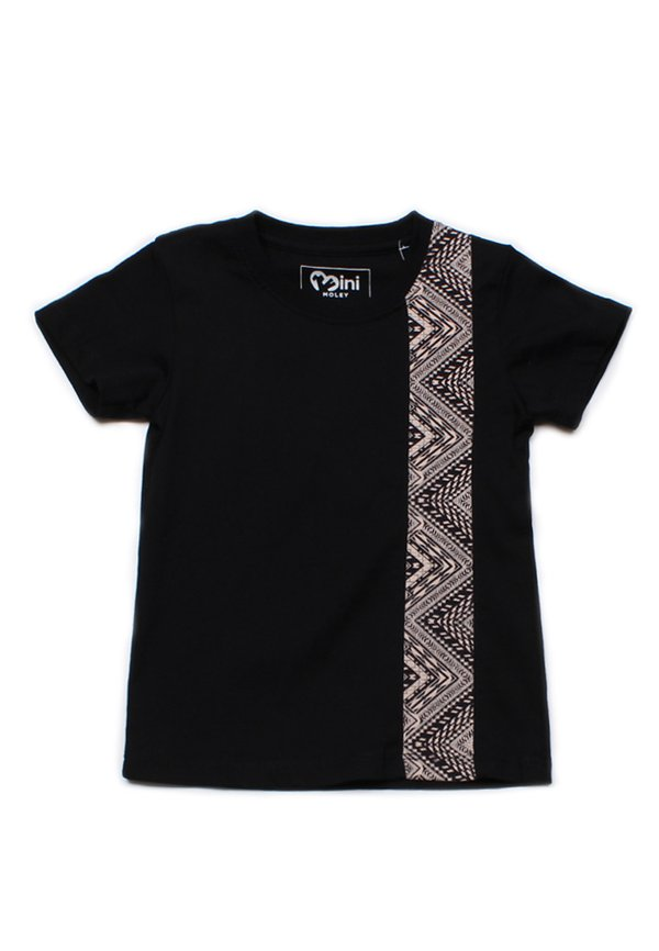 Aztec Stripe Print T-Shirt BLACK (Boy's T-Shirt)