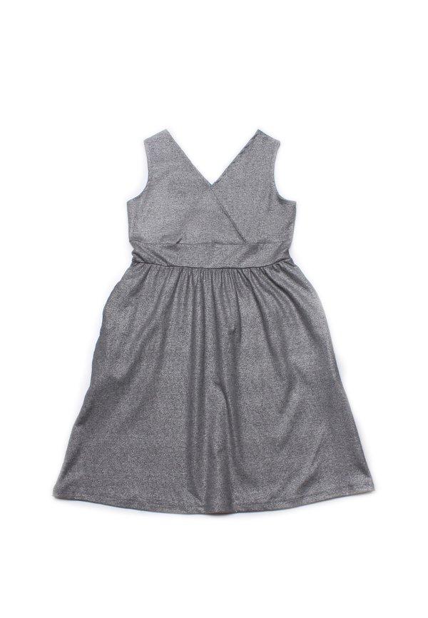 Criss Cross Dress METALLIC GREY (Girl's Dress)