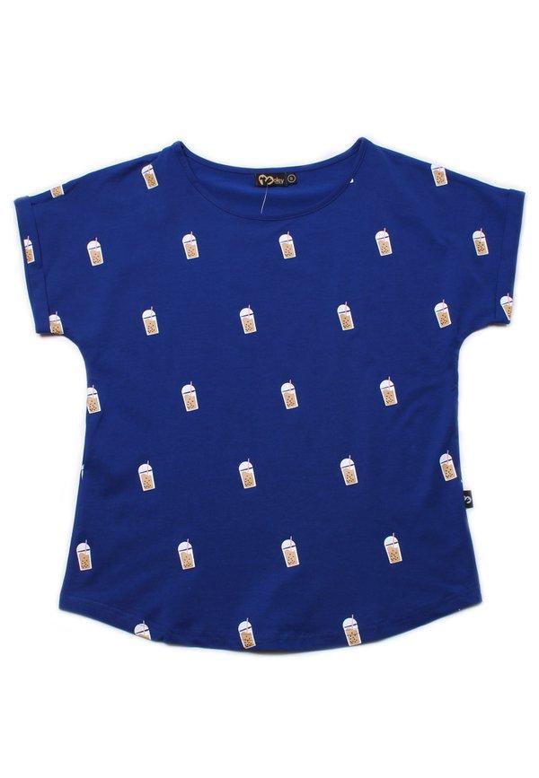 Bubbletea Print Blouse BLUE (Ladies' Top)