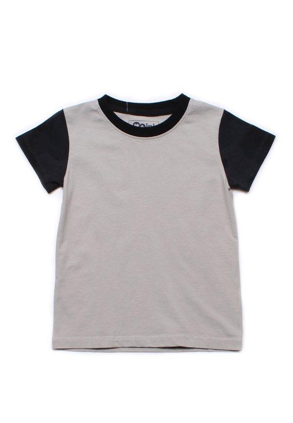 Black Camo Print Raglan T-Shirt GREY (Boy's T-Shirt)