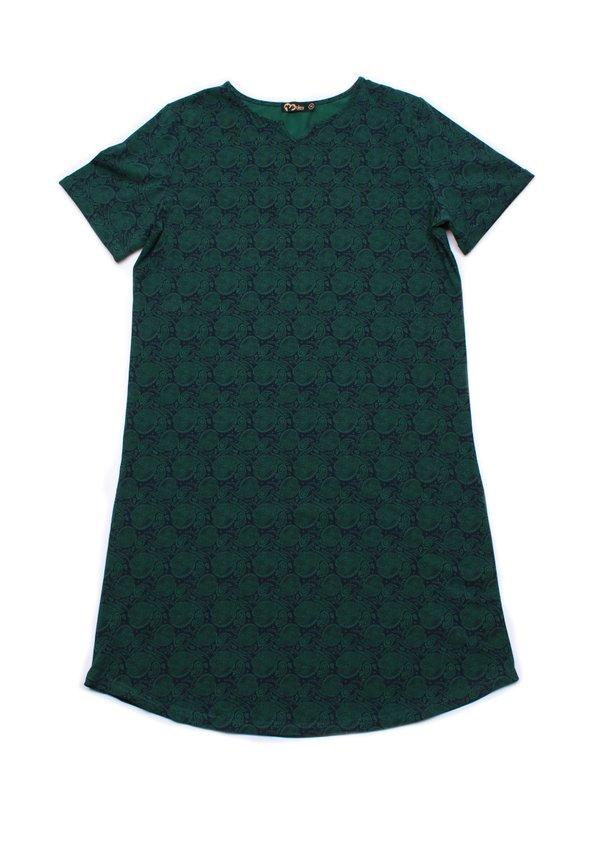 Tribal Print Shift Dress GREEN (Ladies' Dress)