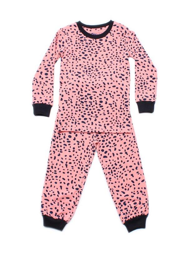Dalmatian Spots Print Pyjamas Set ORANGE (Kids' Pyjamas)