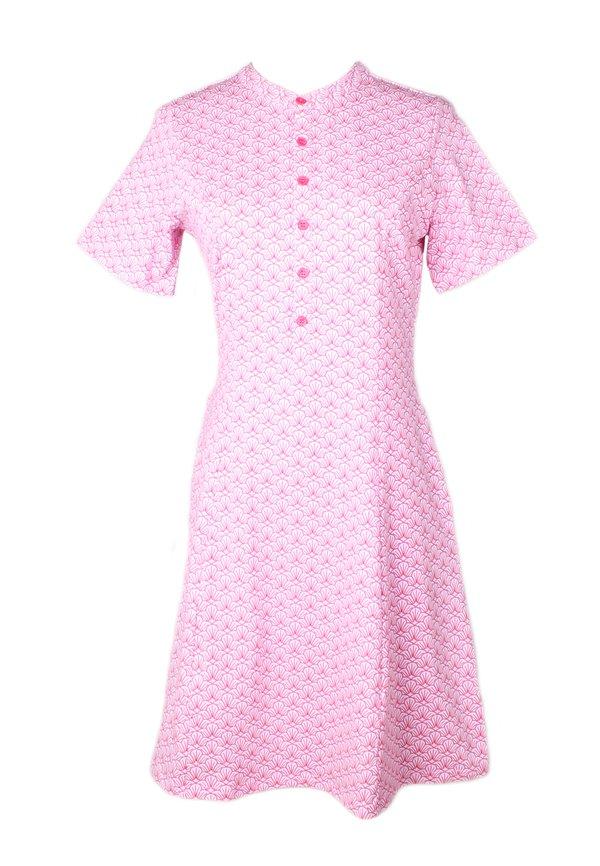 Seashell Print Half-Button Down Dress PINK (Ladies' Dress)