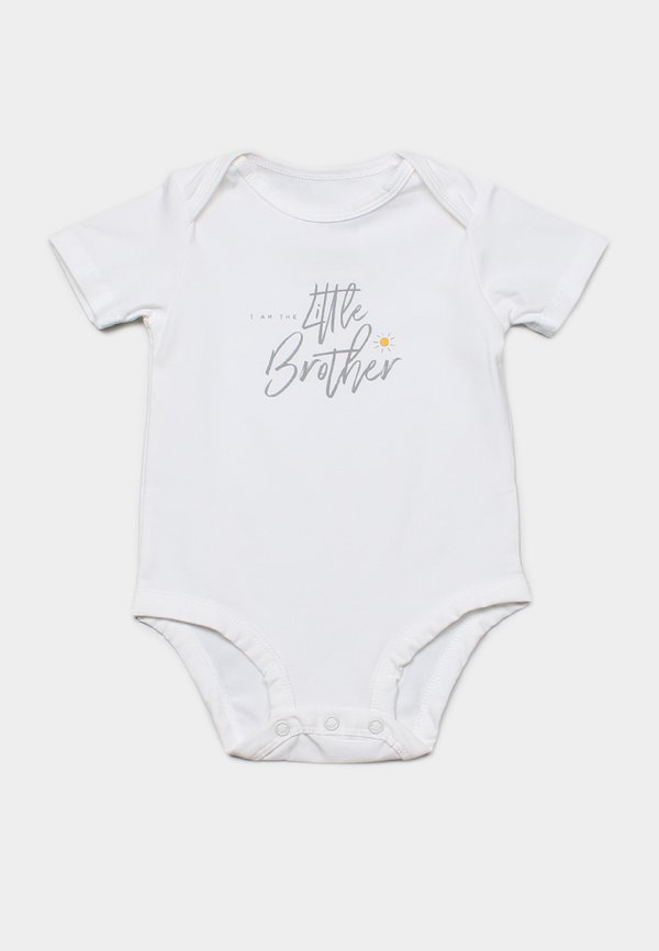 LITTLE BROTHER Romper WHITE (Baby Romper)