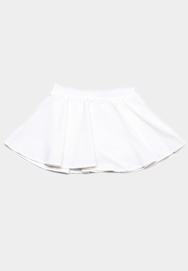 Ridged Fabric Skirt WHITE (Girl's Bottom)