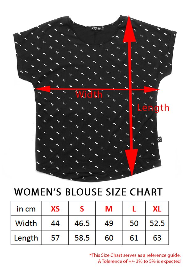 Geometric Triangles Print Blouse RED (Ladies' Top)