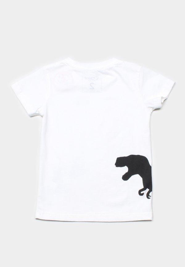 Dino Footprint T-Shirt WHITE (Boy's T-Shirt)