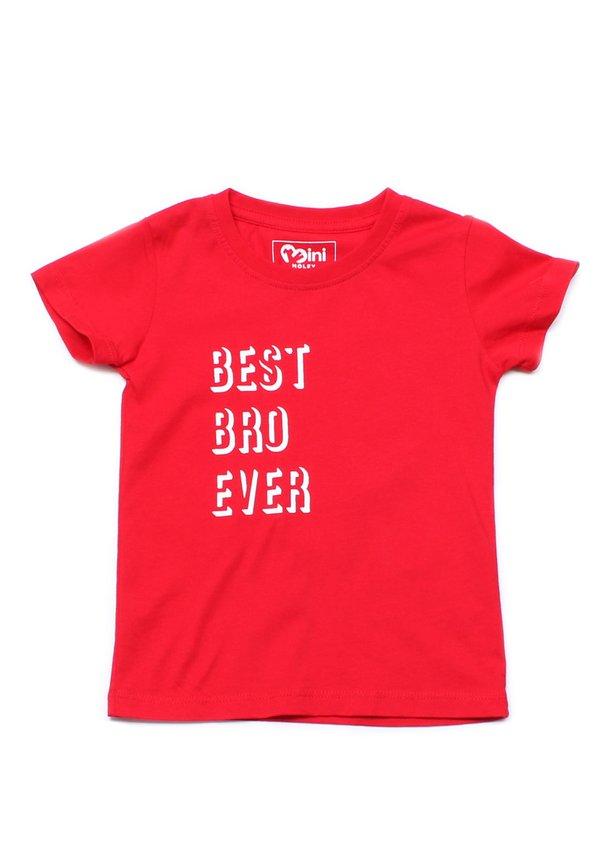 BEST BRO EVER T-Shirt RED (Boy's T-Shirt)