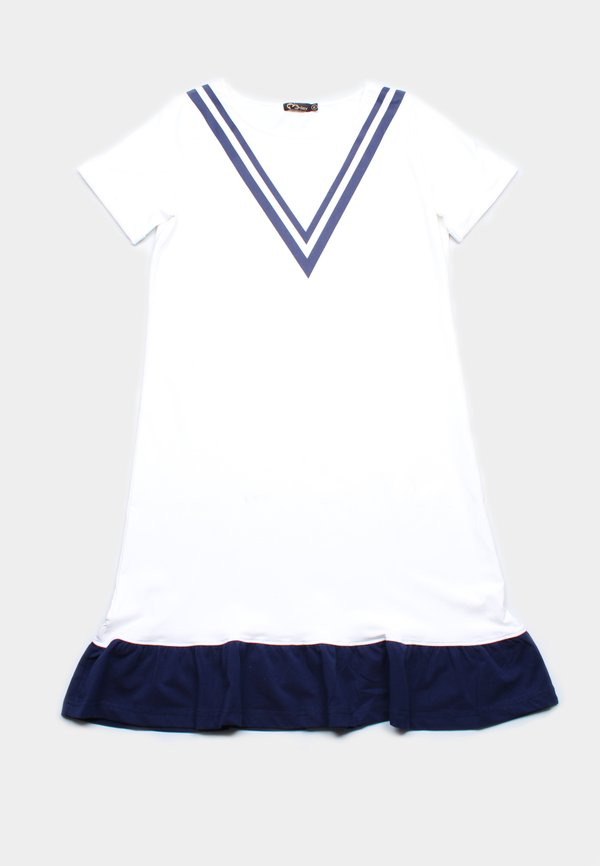 Chevron Design Shift Dress WHITE (Ladies' Dress)