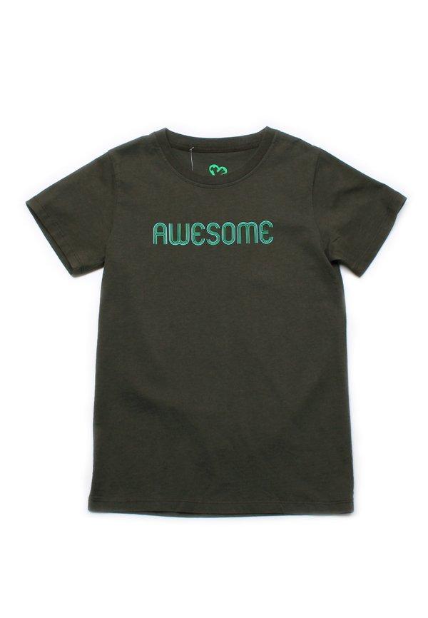 AWESOME T-Shirt DARKGREEN (Boy's T-Shirt)