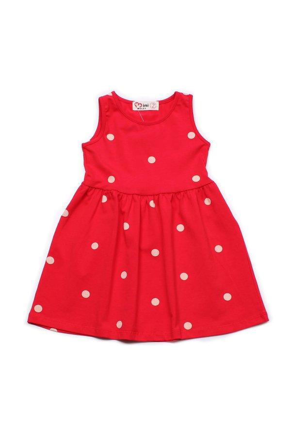 Polka Dot Print Dress RED (Girl's Dress)