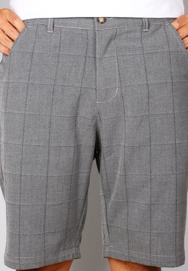 Checkered Stitch Bermudas GREY (Men's Bottom)
