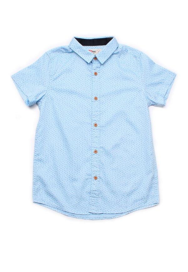Sprinkle Print Short Sleeve Shirt BLUE (Boy's Shirt)