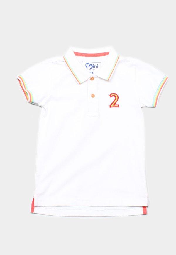 Tri Tipped Polo T-Shirt WHITE (Boy's T-Shirt)