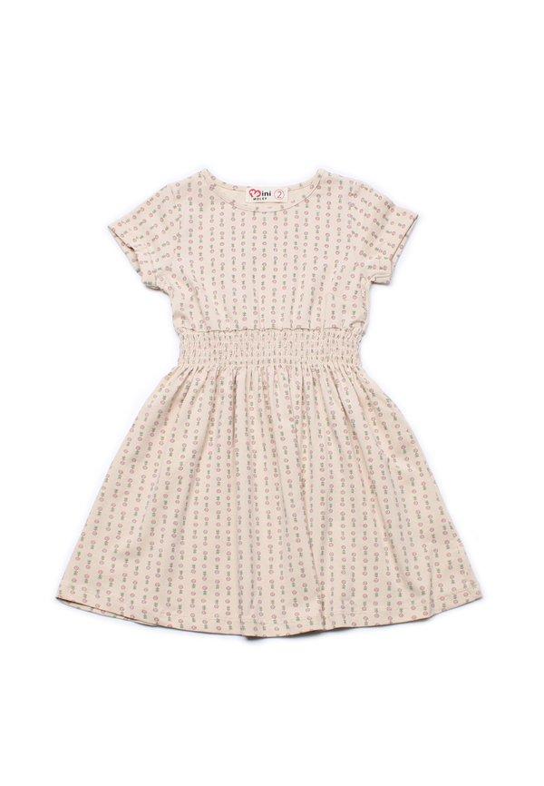 Design Print Skater Dress CREAM (Girl's Dress)