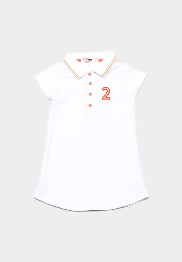 Tri Tipped Polo Shift Dress WHITE (Girl's Dress)