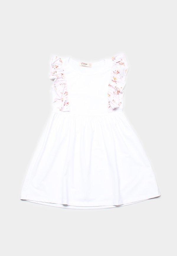Floral Print Twin Ruffle Dress WHITE (Girl's Dress)