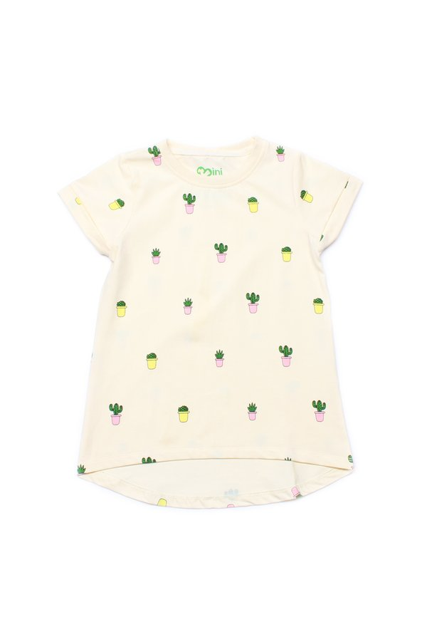 Potted Plants Print T-Shirt CREAM (Girl's Top)