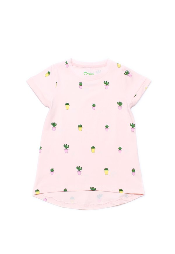 Potted Plants Print T-Shirt PINK (Girl's Top)
