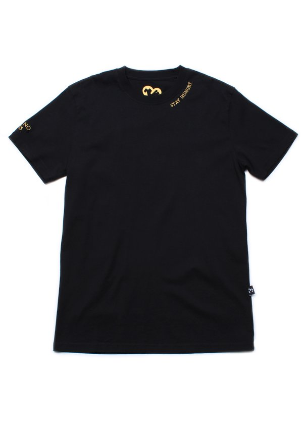 STAY HUNGRY Embroidered T-Shirt BLACK (Men's T-Shirt)