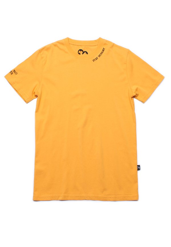 STAY HUNGRY Embroidered T-Shirt YELLOW (Men's T-Shirt)