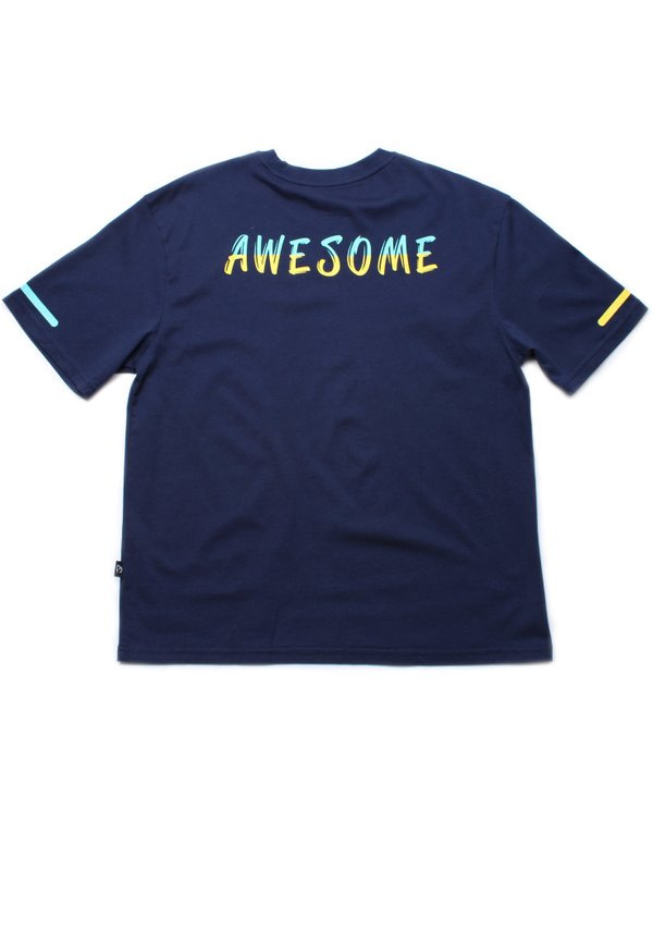 [PRE-ORDER] AWESOME Oversized T-Shirt NAVY (Men's T-Shirt)