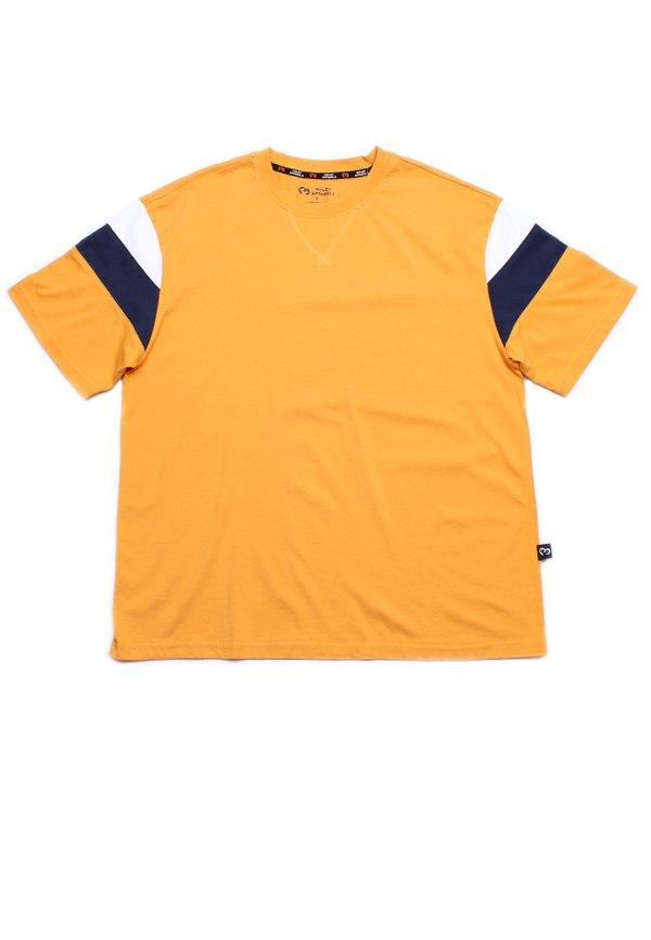 Colour Block Oversized T-Shirt YELLOW (Men's T-Shirt)