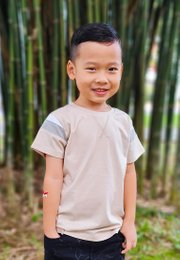 Colour Block T-Shirt KHAKI (Boy's T-Shirt)