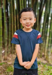 Colour Block T-Shirt NAVY (Boy's T-Shirt)