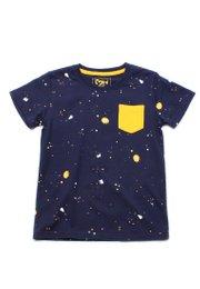 Paint Splatter T-Shirt NAVY (Boy's T-Shirt)